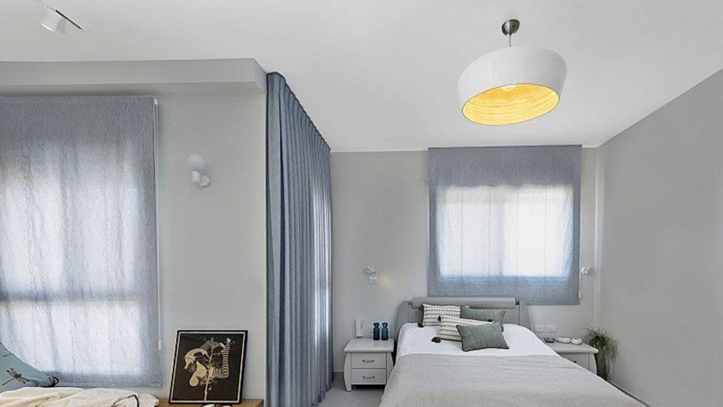 חדר שינה בעיצוב של יפעת ירושלמי